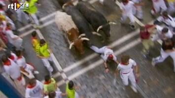 RTL Nieuws Tien gewonden bij stierenrennen Pamplona