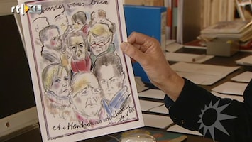 RTL Boulevard Karl Lagerfeld tekent politieke cartoons