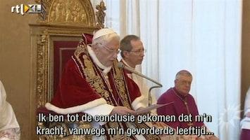 RTL Boulevard Paus Benedictus houdt ermee op
