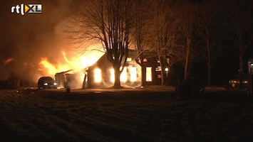 RTL Nieuws Man vermist na brand boerderij