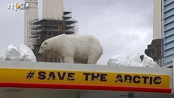 RTL Nieuws 'IJsberen' tegen olieboringen Shell in Noordpoolgebied