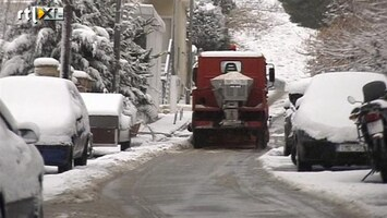 RTL Nieuws Zeldzaam winterweer in Athene