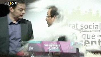 RTL Nieuws Franse politicus bestookt met meel