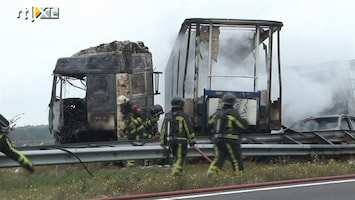 RTL Nieuws Ravage op A1 na ongeluk
