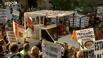 RTL Nieuws Protest in Madrid tegen pausbezoek