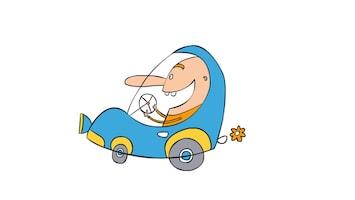 Doodle - Blue Car