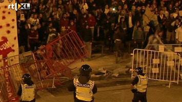 RTL Nieuws Straffe begroting Portugal; rellen op straat