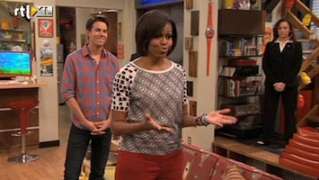 RTL Nieuws Michelle Obama in iCarly