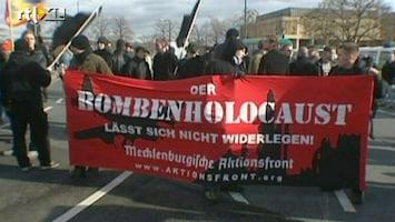 RTL Nieuws 2004: Neonazi's herdenken slachtoffers bombardement Dresden