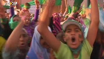 RTL Nieuws Aanhangers Khadaffi gaan de straat op