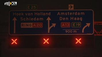RTL Nieuws Rotterdam moeilijker bereikbaar door werken A20