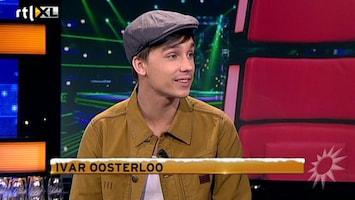 RTL Boulevard The Voice-finalist Ivar aan de desk