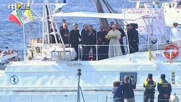 RTL Nieuws Paus herdenkt verdronken asielzoekers Lampedusa