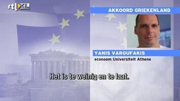 RTL Nieuws Griekse econoom: dit lost niks op