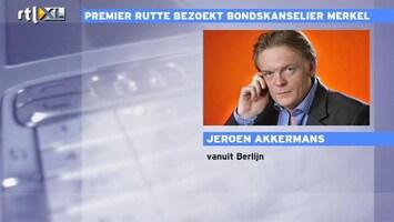 RTL Nieuws 'Wilders handicap voor Rutte bij Merkel'