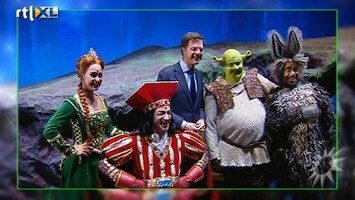 RTL Boulevard Mark Rutte bij Shrek