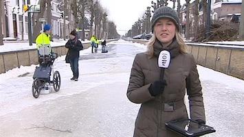 RTL Nieuws 'Meetwagentje' meet ijsdikte