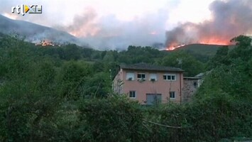 RTL Nieuws Bosbranden bedreigen Spaanse dorpen