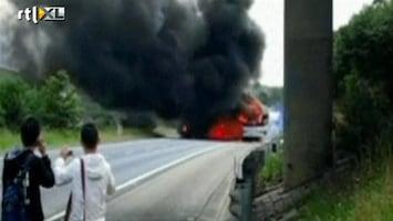 RTL Nieuws Explosie na brand in bus Australië