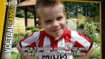 Voetbalfans Spandoek voor overleden PSV-fan van 6 jaar