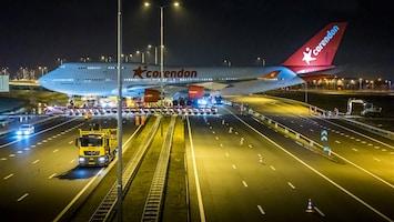 Boeing 747 steekt A9 over: 'Dit is een unieke gebeurtenis'