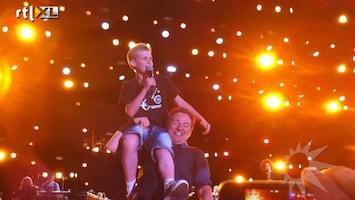 RTL Boulevard 13-jarige Arno op podium met Bruce Springsteen