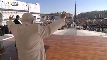 RTL Nieuws Paus groet Rome