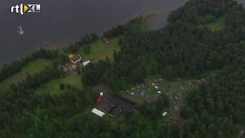 RTL Nieuws Luchtbeelden van eiland Utoya na bloedbad
