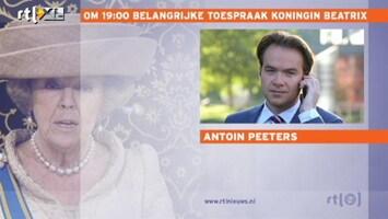 Editie NL 'Toespraak Beatrix komt als een verrassing'
