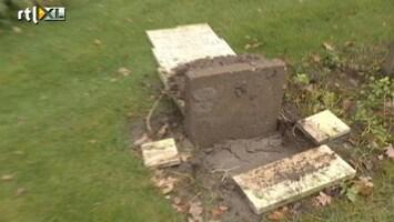 RTL Nieuws 35 graven vernield in Barendrecht