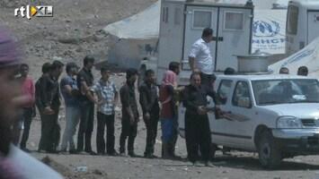 RTL Nieuws Stroom Syrische vluchtelingen naar Irak