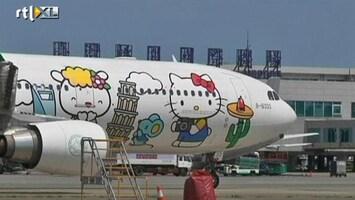 RTL Nieuws Vliegen in Hello Kitty-stijl