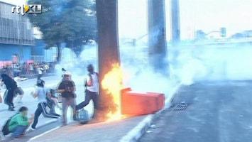 RTL Nieuws Traangas en molotov-cocktails, protesten in Brazilië