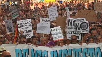 RTL Nieuws Grote anti-Paus demonstratie in Madrid