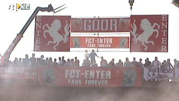 RTL Nieuws Fans FC Twente zwaaien spelersbus uit