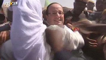 RTL Nieuws Premier Hollande als held onthaald in Mali