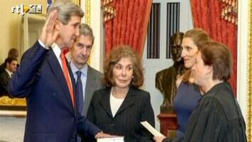 RTL Nieuws Kerry beëdigd als minister van Buitenlandse Zaken
