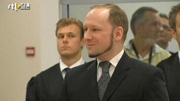 RTL Nieuws 'Breivik oogt tevreden met vonnis'