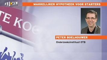 RTL Nieuws 'Goed nieuws voor starters hypotheekmarkt'