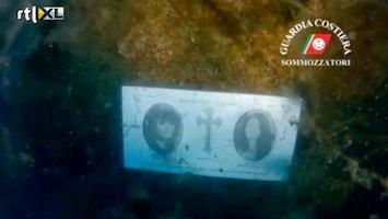 RTL Nieuws Herdenking Costa Concordia onder water