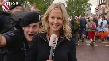 RTL Nieuws Goede sfeer bij wandelaars Vierdaagse
