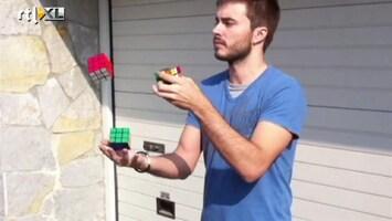RTL Nieuws Jongleren én een Rubiks kubus oplossen