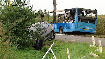 RTL Nieuws Dertien scholieren gewond bij busongeluk