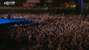 RTL Nieuws 5:19 uur, aanhang Obama viert feest