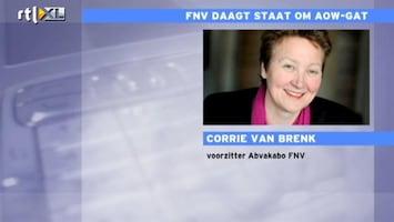 RTL Nieuws FNV daagt staat om AOW-gat