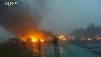 RTL Nieuws Eerste beelden na vliegtuigcrash Rusland
