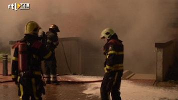 RTL Nieuws Grote brand in parkeergarage Veldhoven: huizen ontruimd