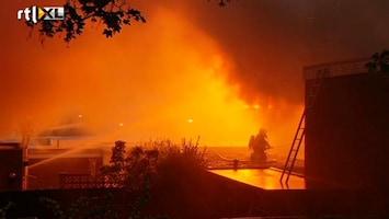 RTL Nieuws Grote brand in sportschool Heerlen