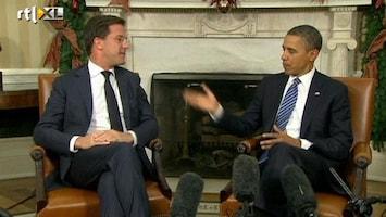 RTL Nieuws Rutte bij Obama: 'Keep Euro in tact'
