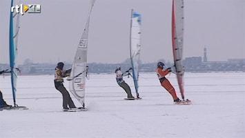 RTL Nieuws Surfend over het ijs